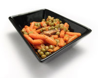 Carrot and peas Stock Photography