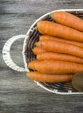 Carrot pictures in the fruit basket,.  Royalty Free Stock Photos