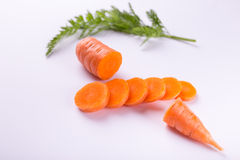 Carrot by pieces Stock Photo