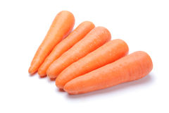 Carrot pile on white background Royalty Free Stock Photo