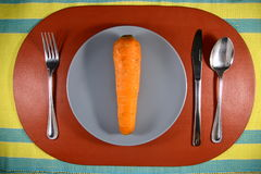 A Carrot on a Plate Royalty Free Stock Photography