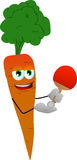 Carrot playing ping pong Royalty Free Stock Photos
