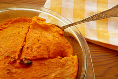 Carrot pudding Royalty Free Stock Photography