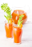 Carrot and pumpkin juice Royalty Free Stock Image