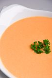 Carrot and pumpkin soup Stock Images