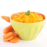Carrot puree Royalty Free Stock Images