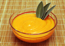 Carrot puree and sage Stock Image
