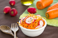 Carrot and radish salad Stock Images