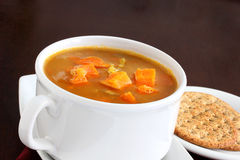 Carrot and red lentil soup Royalty Free Stock Photo