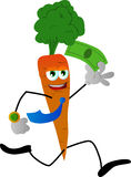 Carrot running with money Royalty Free Stock Photography