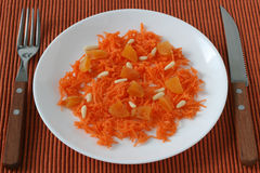Carrot salad Stock Image
