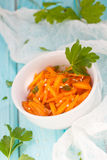 Carrot salad. With sesame seeds Stock Photography