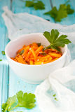 Carrot salad. With sesame seeds Stock Image