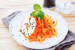 Carrot salad with apple Royalty Free Stock Images