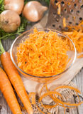 Carrot Salad (close-up shot) Stock Images