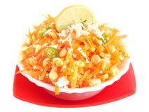Carrot salad. Carrot gratings salad in a bowl Royalty Free Stock Images