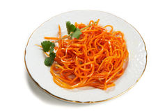 Carrot salad on the Korean isolated Stock Photo