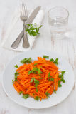 Carrot salad with parsley Royalty Free Stock Images