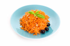 Carrot salad with pine nuts Royalty Free Stock Photography