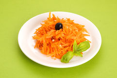 Carrot salad with pine nuts Royalty Free Stock Image