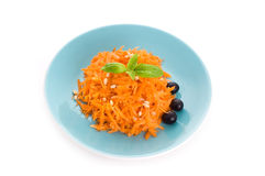 Carrot salad with pine nuts Stock Photo