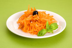 Carrot salad with pine nuts Royalty Free Stock Images