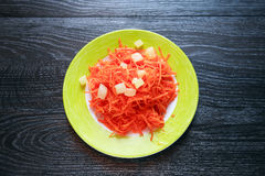 Carrot Salad On Plate Stock Image