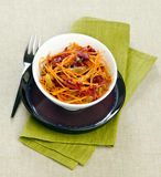 Carrot salad. With seaweed and raisins Stock Images