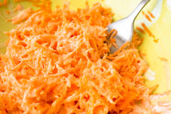 Carrot salad with sour cream Stock Photo