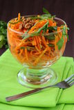 Carrot salad in white bowl Royalty Free Stock Images
