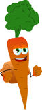 Carrot with school bag Royalty Free Stock Images