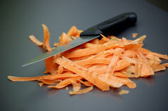 Carrot scraps royalty free stock photos