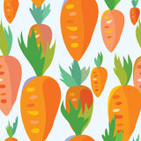 Carrot seamless funny pattern Royalty Free Stock Photo
