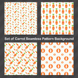 Carrot Seamless pattern background Royalty Free Stock Photography