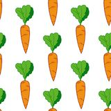 Carrot seamless pattern. Colourful vector carrot seamless pattern vector illustration