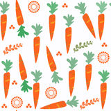 Carrot  seamless pattern. It is located in swatch menu,  i. Mage. Bright illustration. Colorful image for design. Cute picture vector Royalty Free Stock Photography