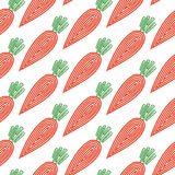 Carrot. Seamless pattern with spiral carrots Royalty Free Stock Image