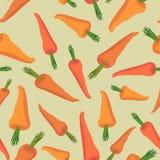 Carrot seamless pattern. Vegetable  background Orange carr Stock Photo