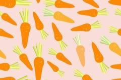 Carrot seamless pattern Stock Photos