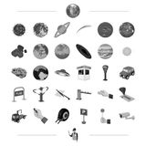 Carrot, service, security and other web icon in monochrome style. Planets, space, astronomy icons in set collection. Royalty Free Stock Images
