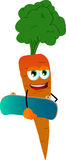 Carrot with skateboard Royalty Free Stock Images