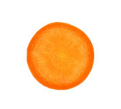 Carrot slice. Isolated on white Stock Photos