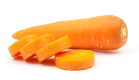 Carrot slice isolated. On white Stock Photography
