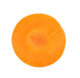 Carrot slice isolated. On white Stock Photo