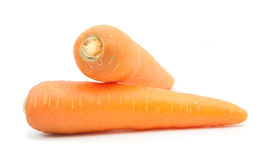 Carrot slice isolated. On white Royalty Free Stock Images