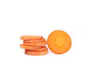 Carrot slice isolated on white. Stock Photography