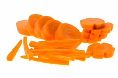 Carrot slice isolated Stock Photo