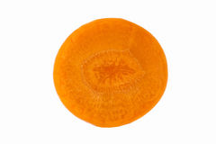 Carrot slice isolated. On white background Royalty Free Stock Photo