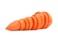 Carrot sliced Stock Images