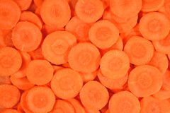 Carrot slices background Stock Photography